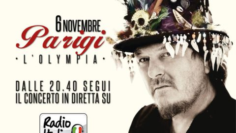 Radio Italia will broadcast the Olympia show live from 8:40 pm on November 6th