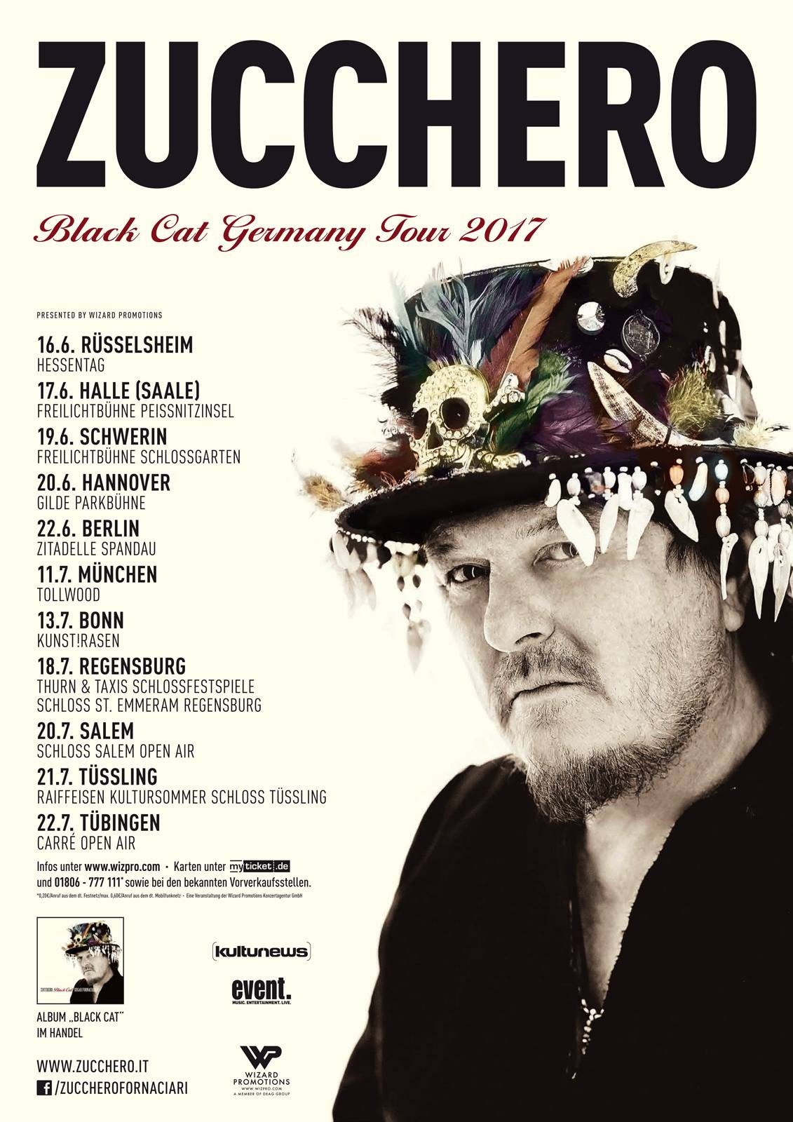 Zucchero Black Cat World Tour Germany   June