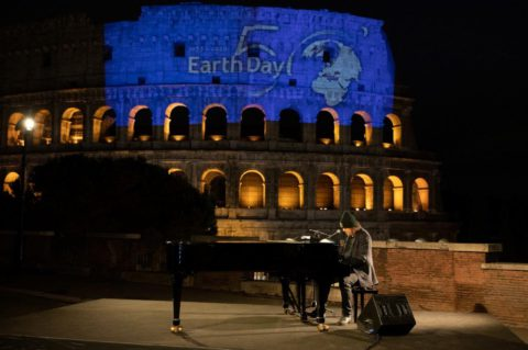 """On the occasion of the 50th EARTH DAYZUCCHERO """"SUGAR"""" FORNACIARIperforms live from the COLOSSEUM the moving, previously unreleased, """"Canta la vita""""adapted from """"Let Your Love Be Known""""by BONO VOX"""