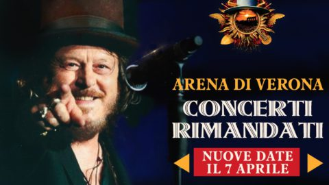 The 14 ZUCCHERO shows, scheduled at the Verona Arena from 23 April 2021, have been postponed