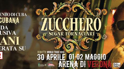 Domani Zucchero su Rai2 con il concerto evento a Cuba