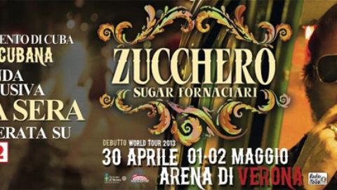 Stasera finalmente su Rai2 il concerto evento di Zucchero