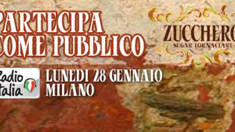Partecipa come pubblico allo Zucchero Day di Radio Italia