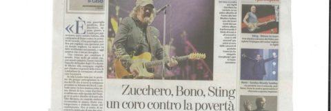 Zucchero, insieme a Bono e a Sting: un coro contro la povertà
