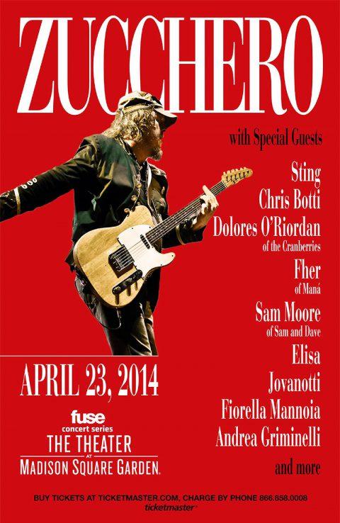 Anche Sting tra gli amici al Madison Square Garden di New York il 23 Aprile