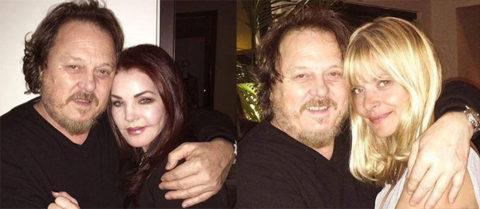 Ospiti a sorpresa nel parterre dello show di Los Angeles, la moglie di Elvis Priscilla Presley, e Nastassja Kinski