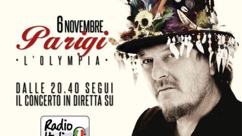 Il concerto del 6 Novembre a Parigi in diretta su Radio Italia