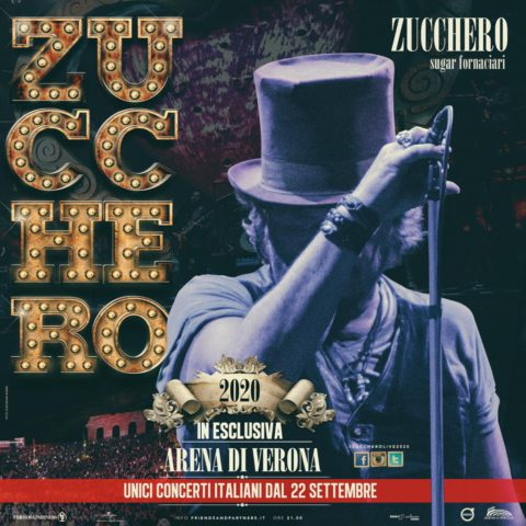 """NEL 2020 IL RITORNO LIVE DEL """"RE DEL BLUES"""" 10 CONCERTI IN ESCLUSIVA ALL'ARENA DI VERONA"""