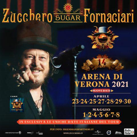 RINVIATI AD APRILE E MAGGIO 2021 I 14 SHOW IN ANTEPRIMA ESCLUSIVA DEL D.O.C. WORLD TOUR ALL'ARENA DI VERONA
